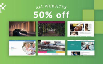 We are still offering 50% off all websites until the end of April.