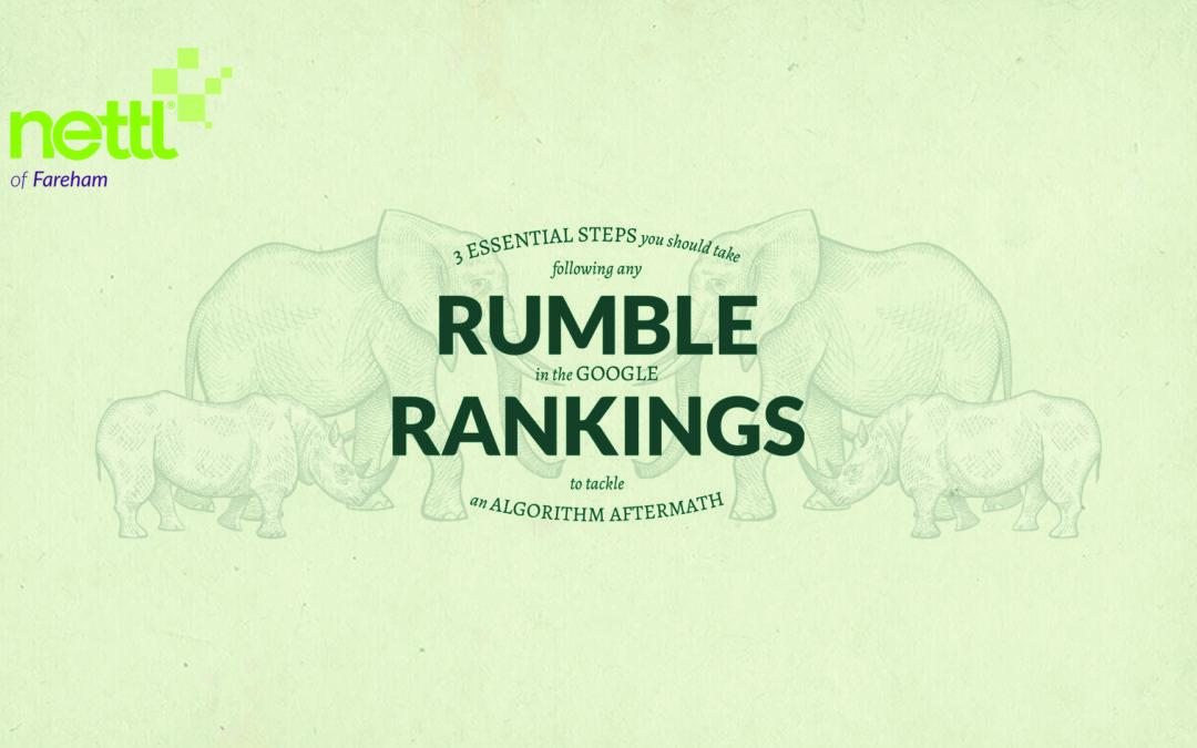 Rumble in the Google rankings